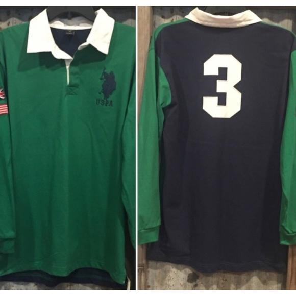 8edfc7e7 U.S. Polo Assn. Shirts   Nwot Us Polo Assn Preppy Long Sleeve Green ...